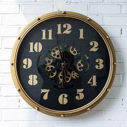 E1022207 엔틱 톱니 금속벽시계