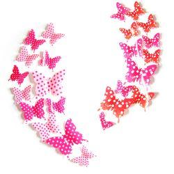 3D 인테리어 나비 데코스티커(도트)