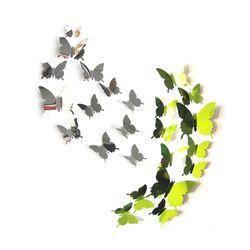 3D 인테리어 나비 데코스티커(양면미러2종)