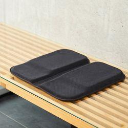 엑스젤 출장 여행용 휴대 방석쿠션 L 블랙 MOB02-BK