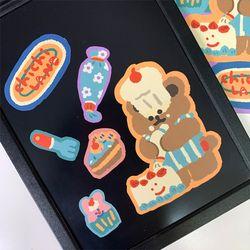 치치랜드 케이크만들기 리무버블 스티커