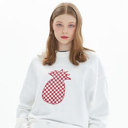 CHESS CHECK SWEATSHIRT IVORY
