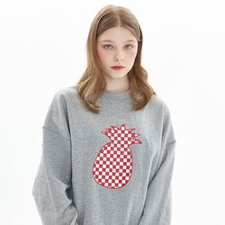 CHESS CHECK SWEATSHIRT MELANGE GRAY