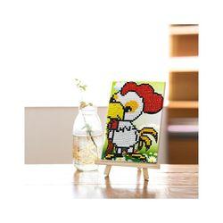 메탈투어 DIY 보석십자수 12간지 닭 10 x 15