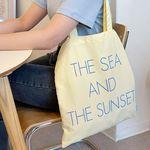 the sea and the sunset bag ( lemon )