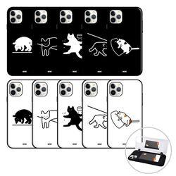 아이폰11 pro max 고양이 오픈 카드 범퍼 하드 케이스