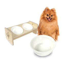 몽글이 원목 세라믹 식기 테이블 2구