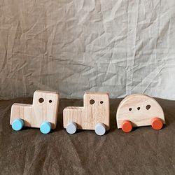 원목장난감 자동차 3세트