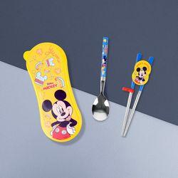 미키 디즈니 연습용젓가락 스푼 와이드케이스세트