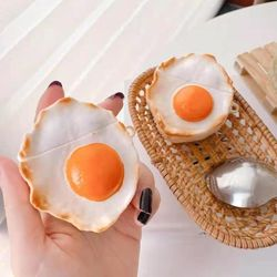 에어팟 1/2/프로 입체 리얼 계란후라이 실리콘 케이스