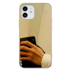 아이폰12프로 심플 글라스 미러 하드 케이스 P580