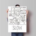 슬로우 커피 M 유니크 인테리어 디자인 포스터 카페 A3(중형)