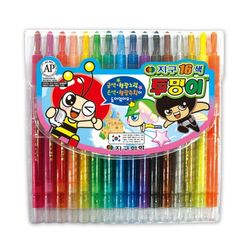 지구 투명이 16색 색연필 샤프식 12개