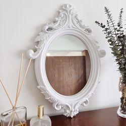 프렌치커브 엔틱 타원형 벽거울
