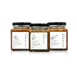 수제 땡초비빔장 3종 세트 (땡초+황태+우렁)