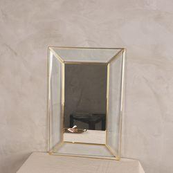 골드 사각형 글라스 패널 벽거울