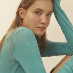 [BREEZE] Slim Long Sleeve T-Shirts [BLUE MINT](CTD1)
