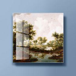 아트글라스 명화 유리액자 호베마 수목이우거진풍경