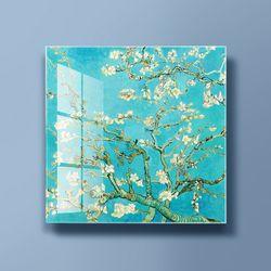 아트글라스 명화 유리액자 고흐 꽃피는아몬드나무