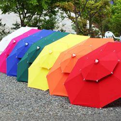 국산 고급2단 대형 우산형 파라솔 (6색)