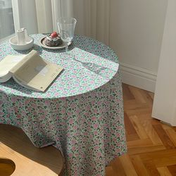 온더뮤즈플라워퍼플 식탁보 테이블보 130x130cm