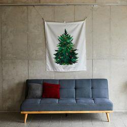 겨울숲나무 패브릭포스터 90X110