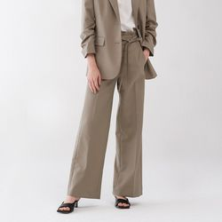 CROSS STRING WIDE PANTS TAUPE