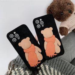 아이폰 12 미니 PRO 11 XR 8 입체 베어 실리콘 케이스