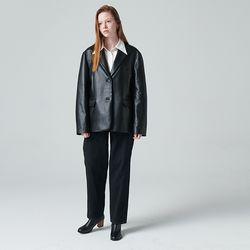 Ravenna Overfit Leather Blazer