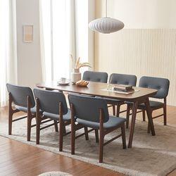 바넷 패밀리 원목 6인 식탁세트 의자6 VNM027