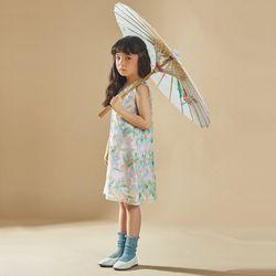 퍼키 샤이닝 스팽글 원피스 여아 아동 키즈 셔링 리본 드레스
