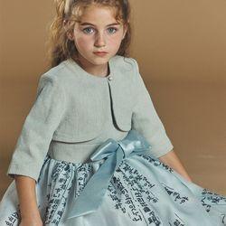 퍼키 베이직 볼레로 여아 아동 키즈 셔링 원피스 체크 드레스