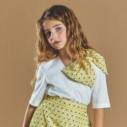 퍼키 피코크 리본 크롭티 여아 아동 키즈 리본 원피스 드레스