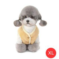 중소형견 후리스 안감 강아지 조끼(옐로우 XL)