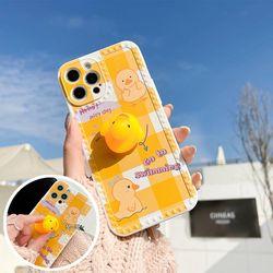 아이폰12 11 pro max xs 8 오리 인형 데코덴 폰케이스