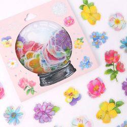 (인디고샵)[금박] 야외결혼식 플라워 요술램프 스티커팩