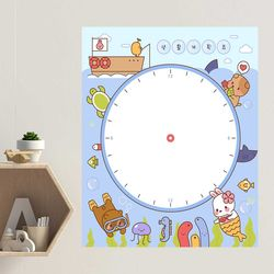 붙이는 보드시트지 계획표 시간표 메모시트 B타입