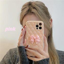 아이폰12 11pro max xs 8 핑크 리본 유광 젤리 케이스
