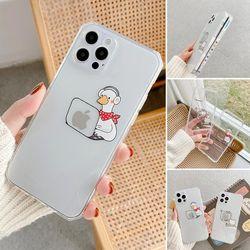 아이폰12 11 pro max xs 8 로고 데코 투명젤리 케이스