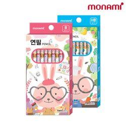 모나미연필 1타 10자루 HB연필/B연필/모니주연필