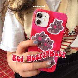 Red Heart Bear 아이폰케이스
