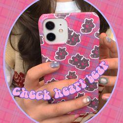 Check Heart Bear 아이폰케이스