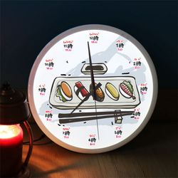 ng496-LED시계액자35R초밥과맥주