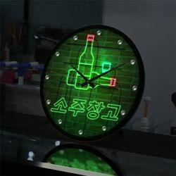 nf652-LED시계액자35R네온효과소주창고