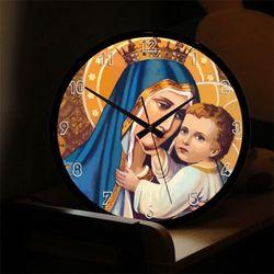 nf658-LED시계액자35R성모마리아와아기예수