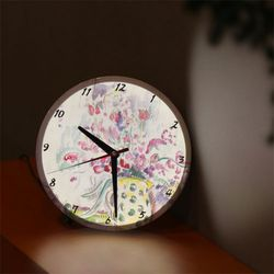 nf647-LED시계액자25R꽃병스케치(폴시냑)