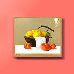 캔버스액자 유화그림 재물운 사과그림 10호