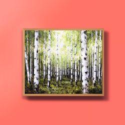 캔버스액자 유화그림 자작나무그림 풍경화 10호