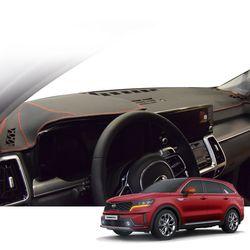 K 기아 쏘렌토 MQ4 매트 카본 자동차 대쉬보드 커버 DashK02