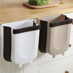데코잇 주방 싱크대 도어걸이 다용도 접이식 쓰레기통 휴지통 6L